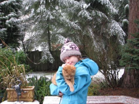Tessa and Sprite in the Snow