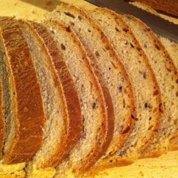I like making bread, like this multi-grain loaf.