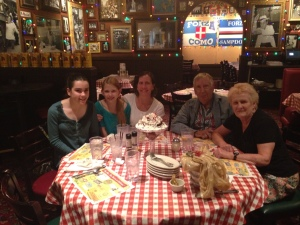 Our Italian Dinner at Bucca de Beppo